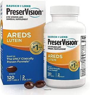 PreserVision AREDS Lutein Eye Vitamin & Mineral Supplement, Beta-Carotene Free, Soft Gels, 120 ct