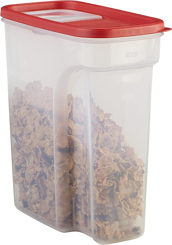 Rubbermaid Modular Food Storage Cereal Container With Flip Top 18 Cup Racer Red 1856059