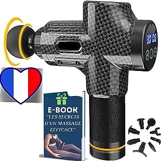 🇫🇷 Pack Pistolet de Massage Musculaire Anti-Courbatures | Masseur Professionnel pour Soulager vos Douleurs | Appareil de...