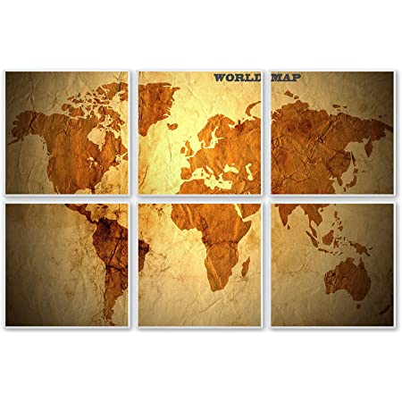 """BUBOS Art Acoustic Panels,72""""x48""""inch Premium Acoustical wall panel,Better than foam, Decorative Sound Absorbing Panel for walls, Studio Acoustic Treatment. Soundproof wall panel,Vintage World Map"""