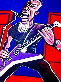 JAMES HETFIELD PRINT POSTER guitar cd lp record album vinyl Metallica esp explorer electric black and justice for all