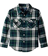 Polo Ralph Lauren Kids - Plaid Cotton Twill Workshirt (Toddler)
