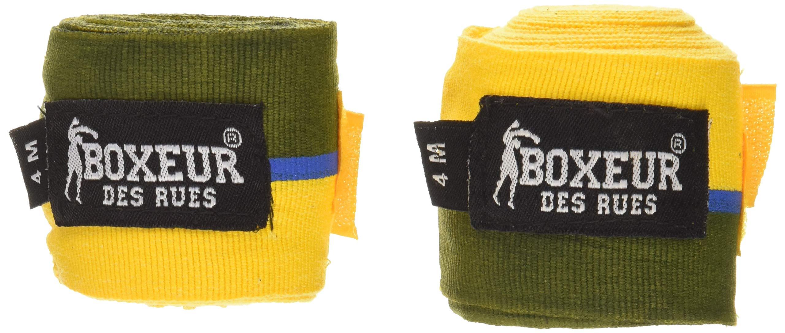 BOXEUR DES RUES BX-GH03Y Vendas semielasticas 4.00 MT, Adultos Unisex, Bandera brasileña, U: Amazon.es: Deportes y aire libre