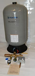 WELLMATE PENTAIR WM6 WM-6 20 gallon quick connect + Brass tank tee install kit + brass ball and check Valves -Free standing Water Well PRESSURE TANK FSG2 SQUARE D 40 60