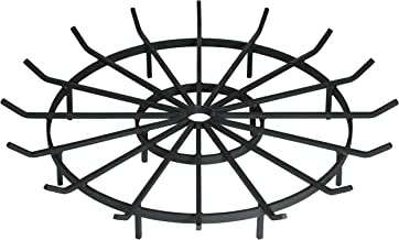 SteelFreak Wagon Wheel Firewood Grate for Fire Pit - Made in The USA (36 Inch)