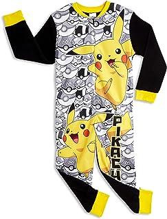 Mono de Pokemon para niños | Mono infantil con personaje de Pokemon | Mono PJ todo en uno con Pikachu y bolas de poke | Pikachu Piesie Pikachu | Regalo para niños de 3 a 12 años