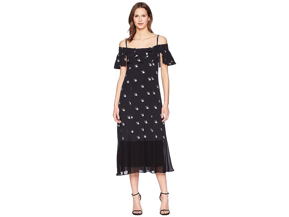 McQ Off Shoulder Dress (Midnight Navy) Women