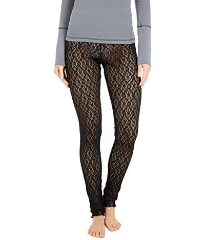 Free People Layered in Lace Leggings (Black) Women