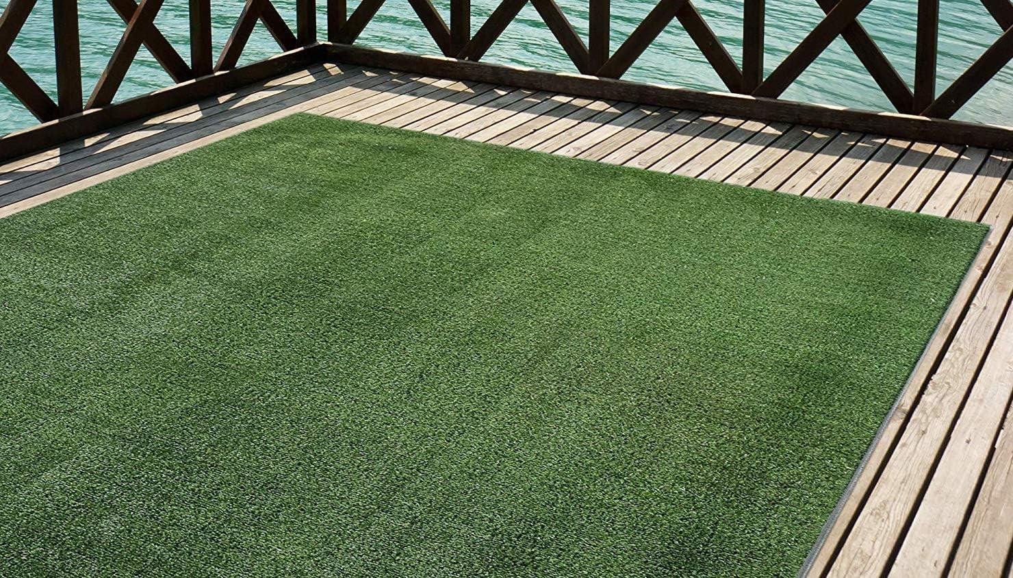 Mirtux - Cesped artificial Premium. Altura de 7mm. Rollos de 1x5 metros Para terraza, jardín, valla, piscina, perro etc (1x5)