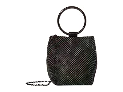 Jessica McClintock Gwen Ball Mesh Ring Wristlet Pouch Clutch (Oil Slick) Clutch Handbags