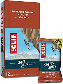 CLIF BAR - Sweet & Salty Energy Bars - Dark Chocolate Almond with Sea Salt - (2.4 Ounce Protein Bars, 12 Count) (Packaging...
