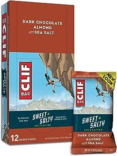 CLIF BAR - Sweet & Salty Energy Bar - Dark Chocolate Almond with Sea Salt (2.4 Ounce Protein Bar, 12 Count)