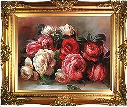 لوحة فنية من OverstockArt بعنوان Renoir تخلص من الورود مع لمسة نهائية من الإطار الذهبي الفيكتوري