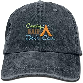 Cowboy Hat Camping Hair Don't Care Adult Sport Hat Adjustable
