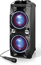SHARP PS-940 Altavoces Bluetooth Karaoke Party con Mezclador Dj y Batería Recargable Incorporada, Tiempo de Reproducción 14 Horas, 2 x USB, Superbass, Karaoke, Luces LED Parpadeantes, 180 W