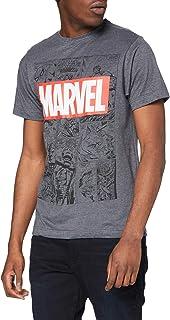 Marvel Mono Comic T-Shirt Camiseta para Hombre