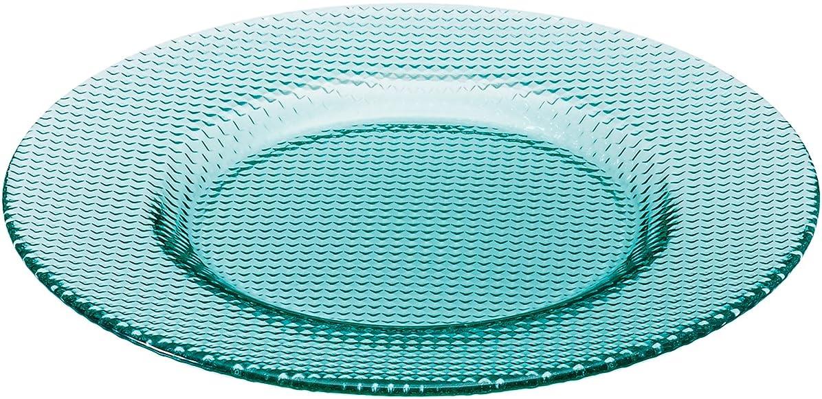 可能性噂はずアデリア ガラス カルパッチョ皿 グリーン 最大23×高2cm プレート 格子柄 日本製 F-49895