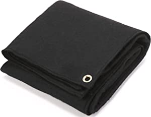 OASD 3x3FT 16 oz High Tempe Welding Felt 450GSM Carbon Fiber Welding Protective Blanket with the Pre-oxidation and Carbonization Treatment 3mm Thickness, Torch Shield Plumbing Heat and Grommets