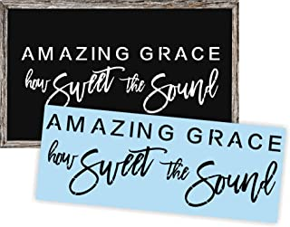 Amazing Grace Stencil for Painting Wood Signs, Reusable and Thick, by Barn Star