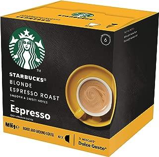 Starbucks Blonde Espresso Roast by NESCAFÉ Dolce Gusto Blonde Roast Coffee Pods, Box of 12 Capsules, 66g (12 Serves)