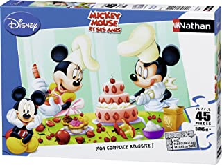 Nathan - 86465 - Puzzle Enfant Classique - Mickey - Après-midi Pâtisserie - 45 Pièces