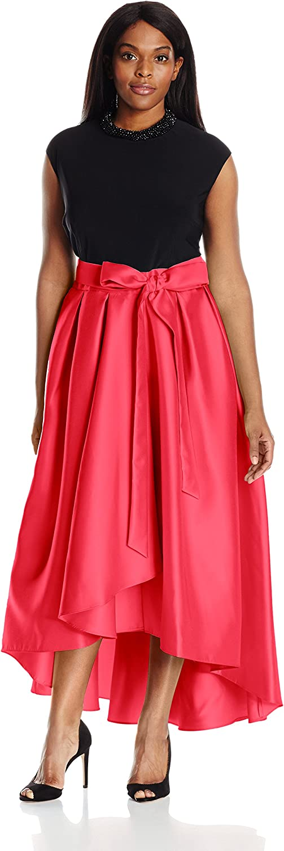 Ignite Womens PlusSize Plus Size Sleeveless Gown Dress