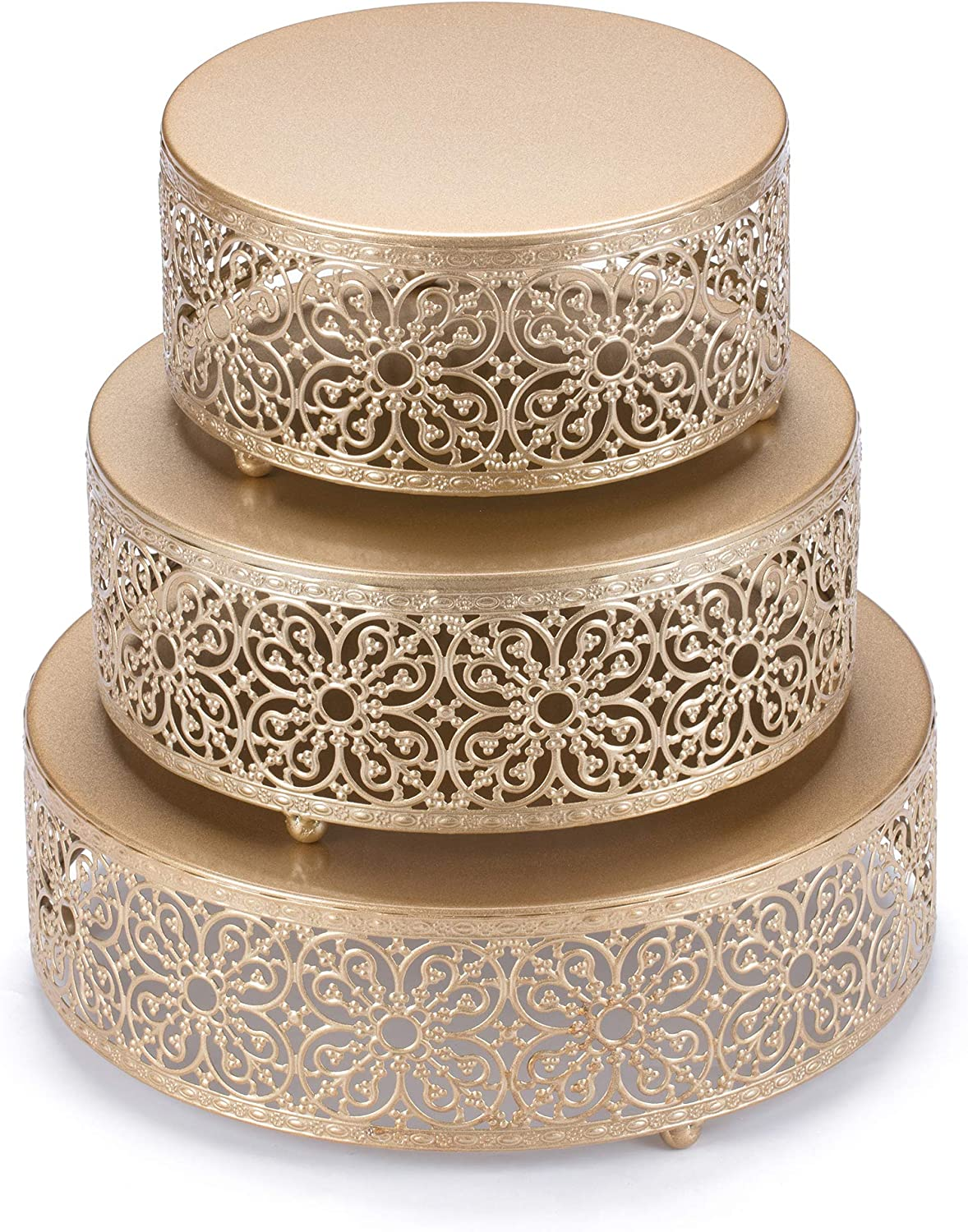Hotity Ranking TOP13 3 Sets Cake Stands Round Stand Cup Large discharge sale Display Set Metal