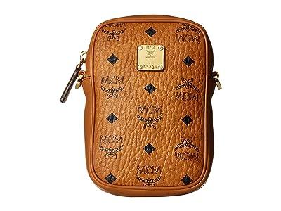 MCM Essential Visetos Original Belt Bag (Cognac) Handbags