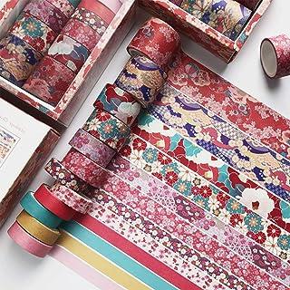 12PCS Washi Tape Set Fleur de Cerisier Washi Masking Tape Adhésif Ruban Adhésif Décoratif Papier Tape pour Journal Scrapbo...