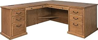 Martin Furniture Huntington Oxford Office Left L-Shaped Desk, Wheat Finish