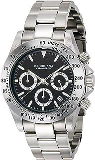 [ブルッキアーナ]BROOKIANA 腕時計 クオーツ クロノグラフ ブラック×シルバーメタル BA2101-SVBK メンズ 腕時計