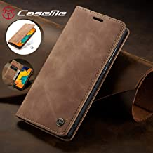 Compatible with Samsung Galaxy A50 (2019) Wallet Case Cover, Magnetic Stand View Premium Cowhide Leather Flip Cover Purse Book Style with ID & Credit Card Slots Pockets for Samsung Galaxy A50(2019)
