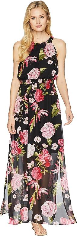Spanish Roses Maxi Dress