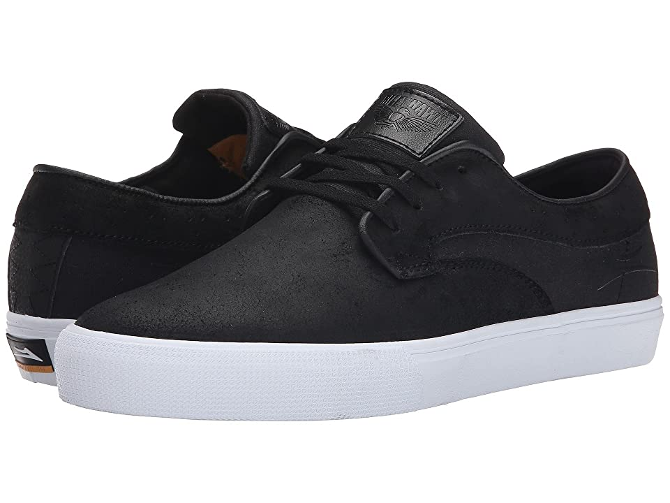 Lakai Riley Hawk (Black Oiled Suede) Men