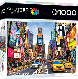 MasterPieces Shutter Speed Jigsaw Puzzle, Times Square, Featuring Iconic Sky Scrapers in New York, 1000 Pieces