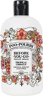 Poo-Pourri Before-You-Go Toilet Spray 16-Ounce Refill Bottle, Tropical Hibiscus, Includes Uben Travel Size, 1-Ounce Refill Bottle,