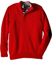 Tommy Hilfiger Kids - Long Sleeve Zac 1/2 Zip Solid Sweater (Big Kids)