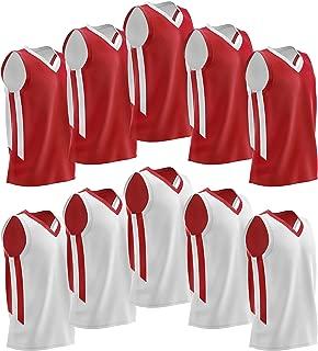 Liberty Imports 10 Packs Youth Boys Reversible Mesh Basketball Jerseys Blank Scrimmage Uniforms