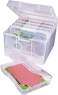 ArtBin 6947ZZ Juego de organizador de fotos y manualidades, caja grande con [5] cajas de almacenamiento de plástico en el ...