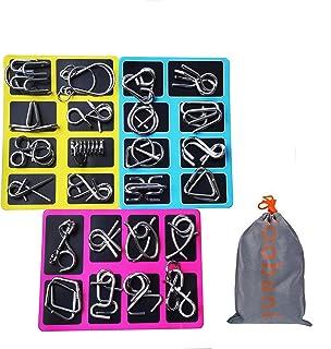 Loobani 知恵の輪 ちえのわ 自粛中 謎解き 脳ティーザー リングパズル 脳トレ パズル スチールパズル 難易度 レベル 知育 遊び 玩具 おもちゃ ゲーム 楽しい 子供 大人 説明書付き (24セット)