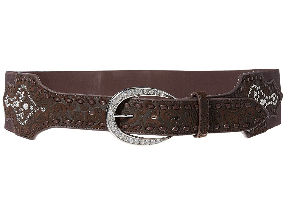 Ariat Elastic Strap with Tapered Buckle Belt (Brown) Women