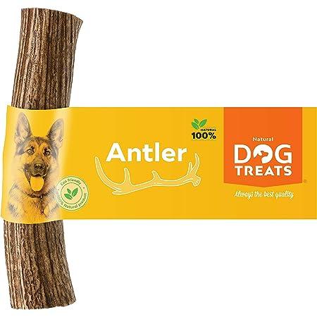 L 1 Pieza 15 cm Entero 4 Dogs Original Juguete masticable asta de Ciervo para Perros Hueso masticable Hueso para Perros astas 100/% Natural