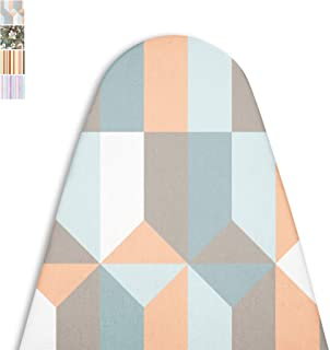 ENCASA Homes Replacement Ironing Board Cover with Extra Thick Pad, Made in India, Standard (Fits Wide Boards 18 x 49 inch) Elasticated, Scorch Resistant, Durable - Blocks