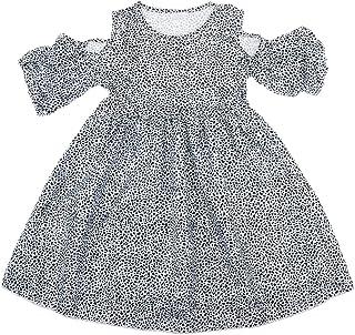 Fenteer 全2色5サイズ 赤ちゃん 女の子 綿混紡 可愛い 通気性 ドレス ワンピース