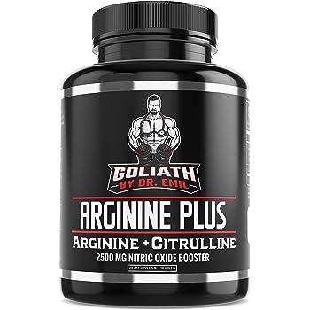 Dr. Emil's ARGININE Plus - L Arginine + L Citrulline - 2500 MG High Dose NO Booster Tablets - Nitric Oxide Supplement for Muscle, Pump and Heart Health (Arginine AAKG and Citrulline Malate 2:1)