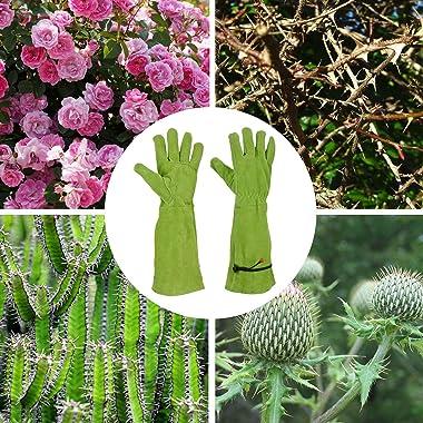 GLOSAV Rose Pruning Gloves for Women Men Gardening, Long Ladies Thorn Proof Garden Gloves