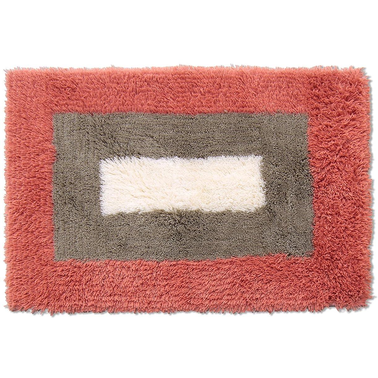 財布羊の服を着た狼メイドオカ バスマット 乾度良好 ランドスケープ 約50×75cm レッド 吸水 速乾