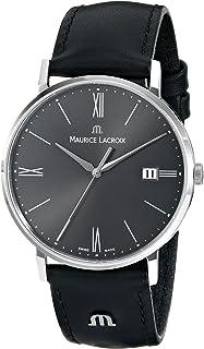 Maurice Lacroix - EL1087-SS001-810 Eliros Reloj analógico de Cuarzo Negro para Hombre
