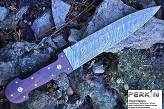Perkin SALE Custom Damascus Handmade Hunting Knife Beautiful Hunting Knife - Double Egde