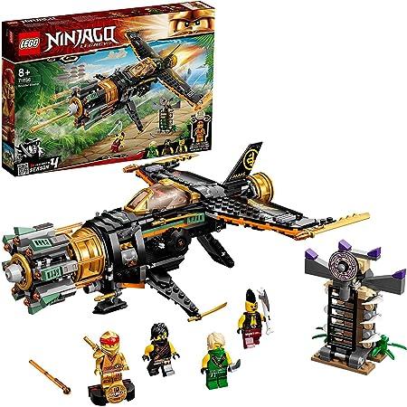 LEGO 71736 Ninjago LeJetMulti-Missiles Jouet d'avion Boulder Blaster avec Prison et Figurine de Ninja Kai Or à Collectionner